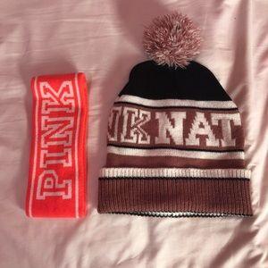 PINK! Head band + Beanie